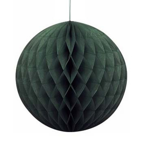 "Black 8"" Honeycomb Tissue Paper Ball"