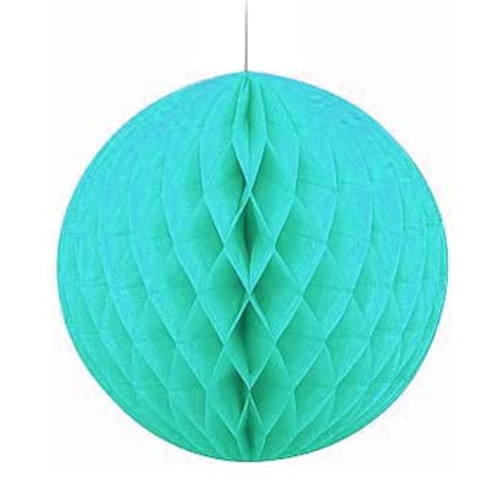 "Caribbean Blue 8"" Honeycomb Tissue Paper Ball"