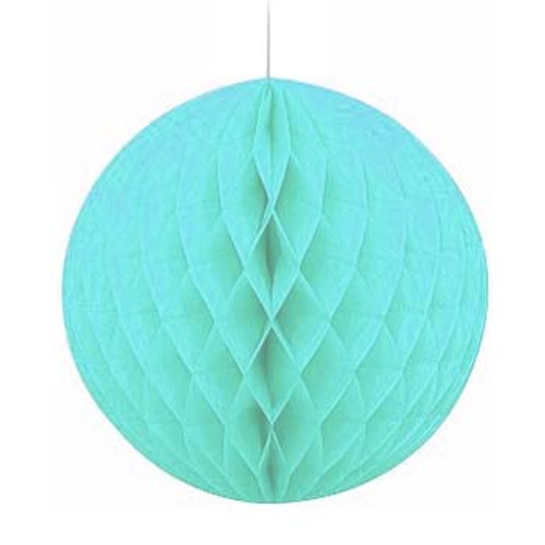 "Light Blue 8"" Honeycomb Tissue Paper Ball"