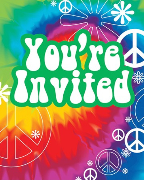 Tie Dye Fun Invitation Cards & Envelopes