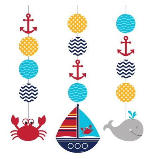 Ahoy Matey Hanging Cutouts