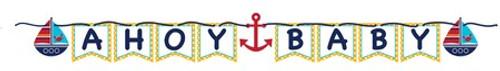 Ahoy Matey Ahoy Baby Ribbon Banner