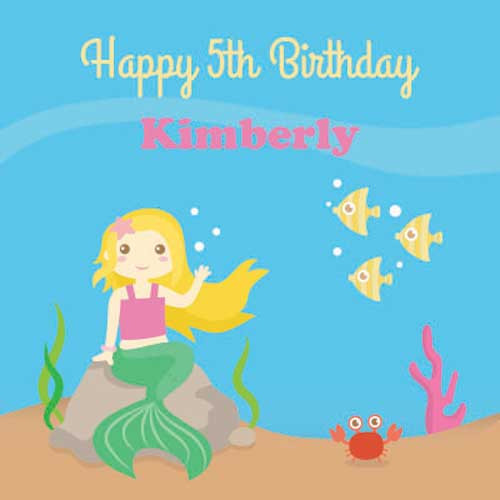 Mermaid Underwater Personalized Backdrop