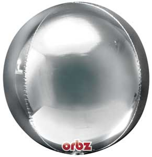 """16"""" Silver Orbz Balloon"""