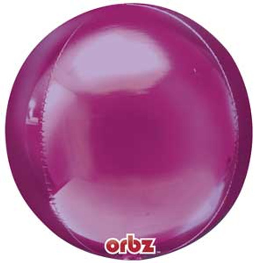 """16"""" Dark Pink Orbz Balloon"""