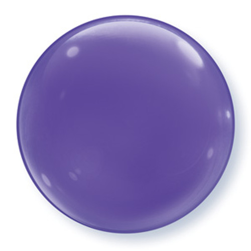 "15"" Purple Bubble Balloon"
