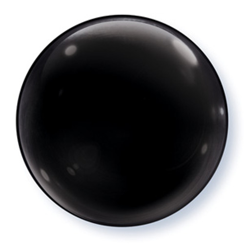 "15"" Black Bubble Balloon"