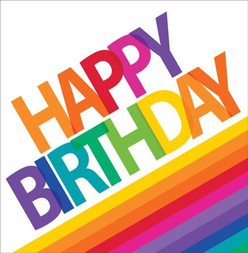Rainbow 2-Ply Birthday Lunch Napkins