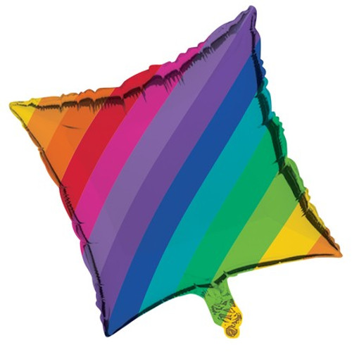 "18"" Rainbow Foil Square Balloon"