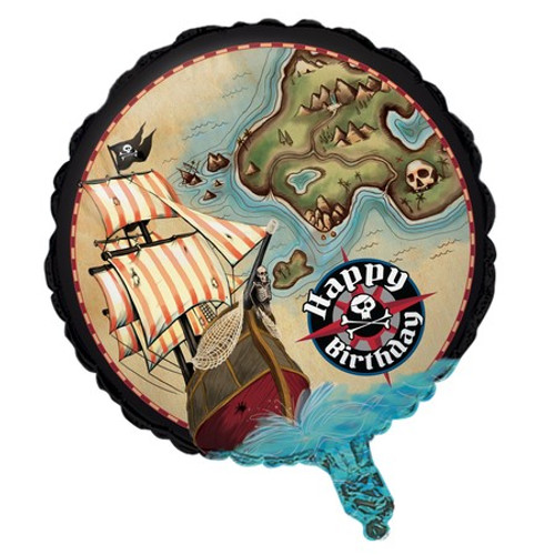 "18"" Pirate's Map Foil Balloon"