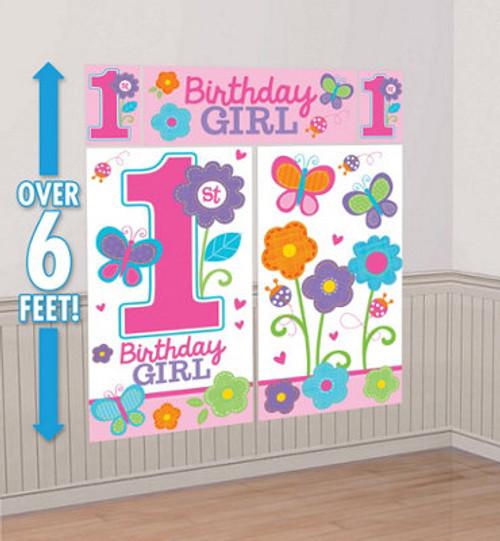 Sweet 1st Birthday Girl Scene Setter