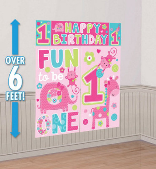 One Wild Girl 1st Birthday Scene Setter