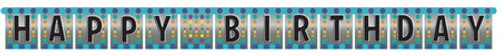 Birthday Pop Large Foil Jointed Banner
