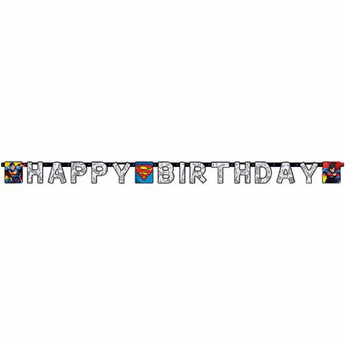 Superman Birthday Jointed Banner