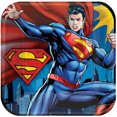 "Superman 9"" Square Dinner Plates"