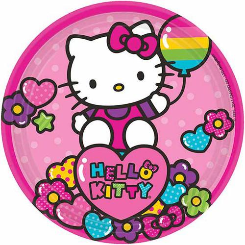 """Hello Kitty Rainbow 7"""" Dessert Plates"""