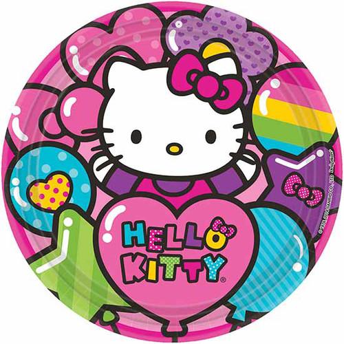 """Hello Kitty Rainbow 9"""" Dinner Plates"""
