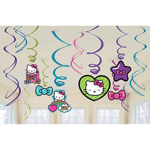 Hello Kitty Rainbow Swirl Danglers