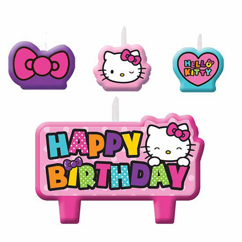 Hello Kitty Rainbow Molded Candle Set
