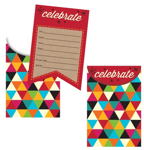 Birthday Kraft Popup Invitations