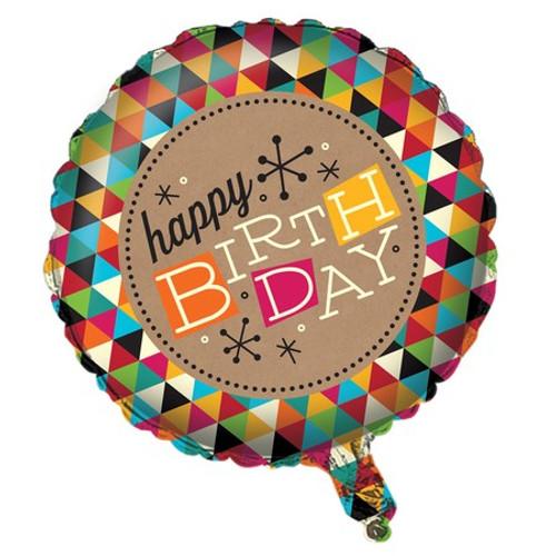 """18"""" Birthday Kraft Foil Balloon"""