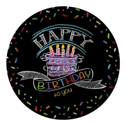 "Chalk Birthday 9"" Dinner Plates"
