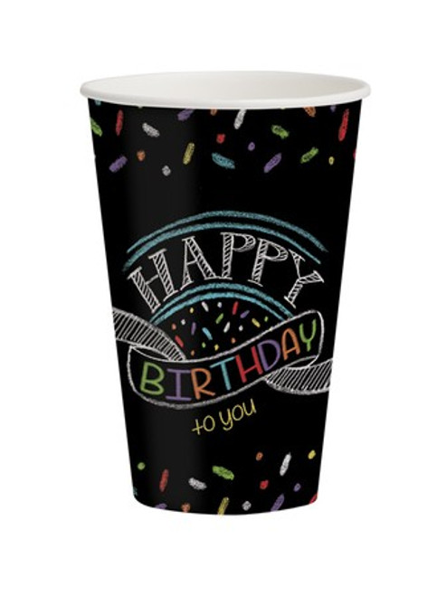 Chalk Birthday 12 oz. Hot/Cold Cups