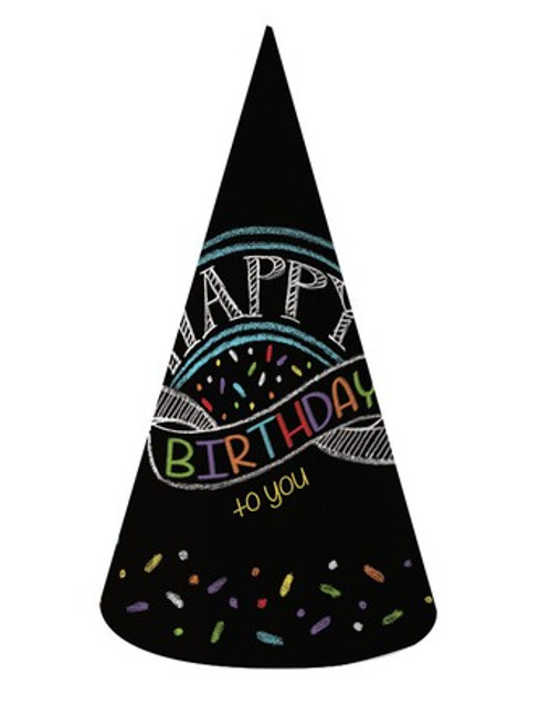 Chalk Birthday Adult Size Hats