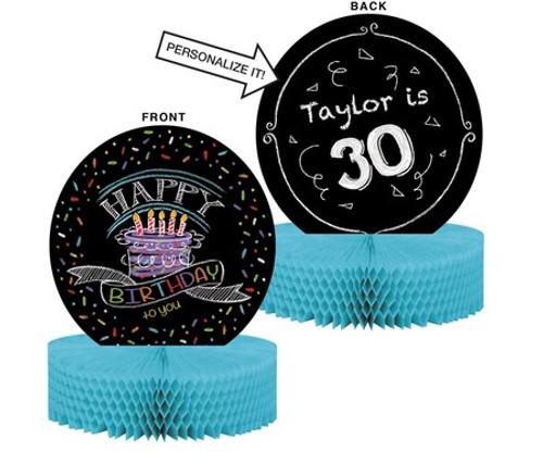 Chalk Birthday Honeycomb Centerpiece