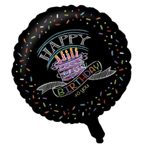 "18"" Chalk Birthday Foil Balloon"