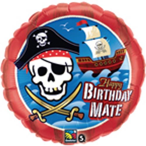 "18"" Birthday Mate Pirate Ship Balloon"