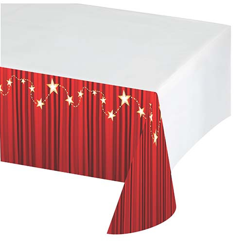 Hollywood Lights Plastic Tablecover
