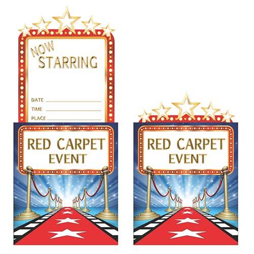 Hollywood Lights Pop-up Invitations