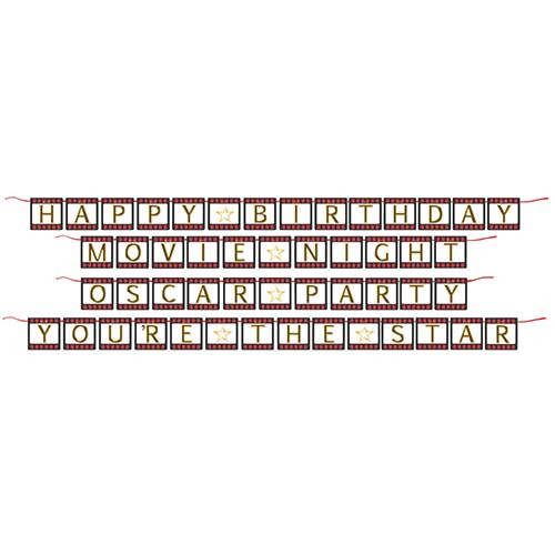 Hollywood Lights Shaped Ribbon Banner