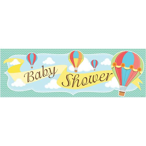 Up Up & Away Baby Shower Giant Party Banner