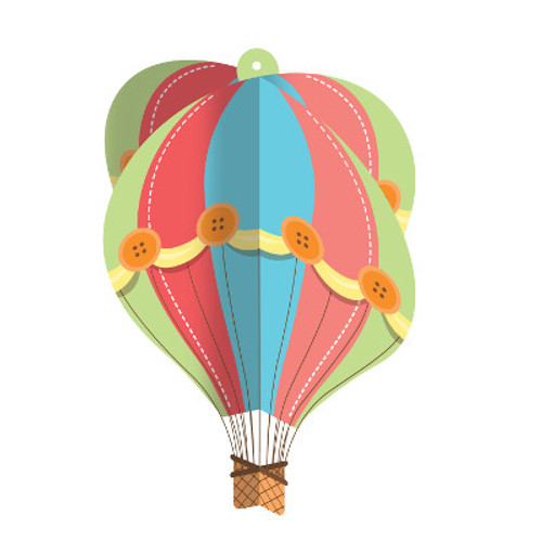 Up Up & Away Hot Air Balloon Hanging Centerpiece