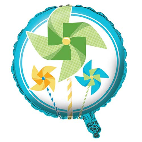 "18"" Turning One Boy Pinwheel Foil Balloon"