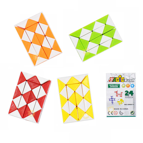 Mini Magic Snake Cube Puzzle Assorted Color 1pcs