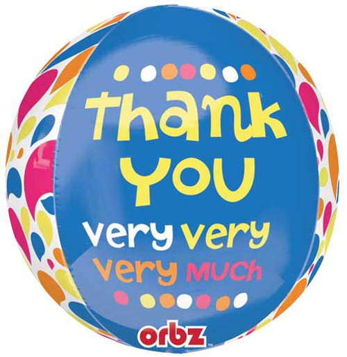 "16"" Thank You Very Much Orbz Balloon"