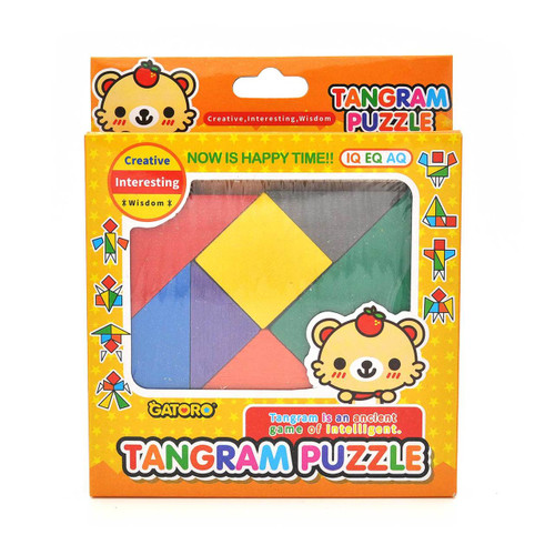Wooden Tangram Puzzle Game Toy