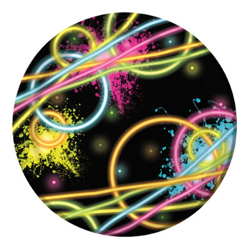 "Glow Party 7"" Lunch Plates"