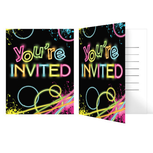 Glow Party Foldover Invitations