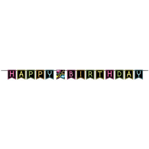 Glow Party Shaped Ribbon Banner