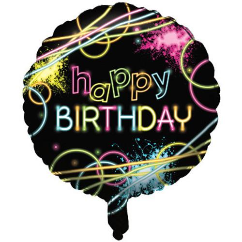 """18"""" Glow Party Birthday Foil Balloon"""