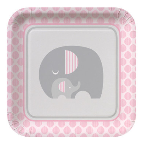 "Little Peanut Girl 9"" Square Dinner Plates"