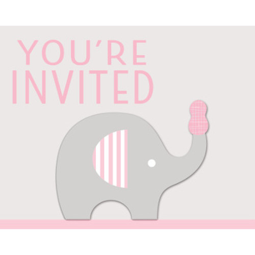 Little Peanut Girl Invitations with Attachment