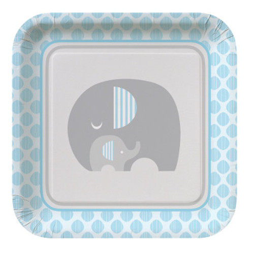 "Little Peanut Boy 9"" Square Dinner Plates"