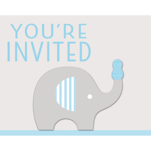 Little Peanut Boy Invitations with Attachment