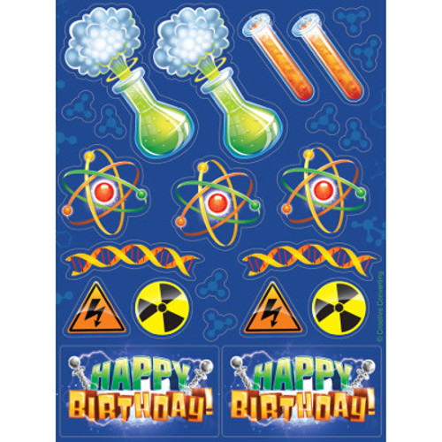 Mad Scientist Value Stickers