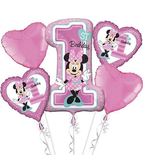 Minnie 1st Birthday Fun Balloon Bouquet
